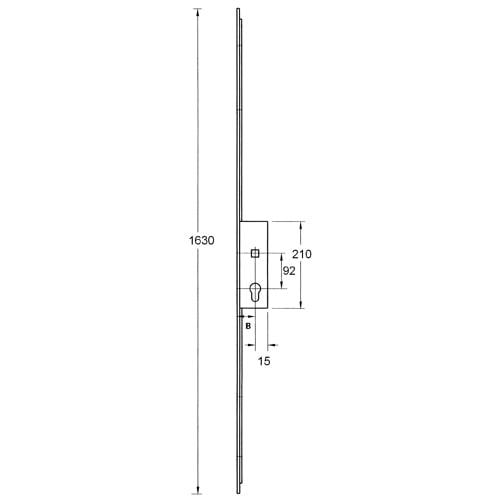 KFV Latch, Deadbolt and 2 Pin Dead Bolts, Lift lever