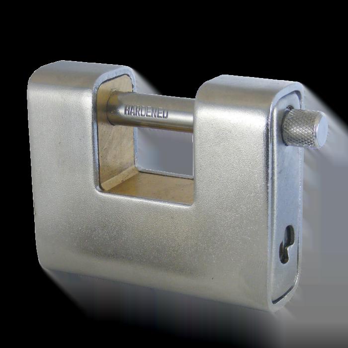 ASEC Steel Sliding Shackle Padlock 80mm