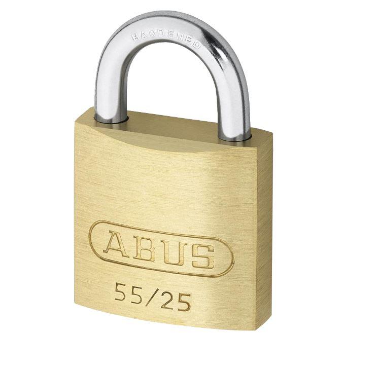 ABUS 55 Series Brass Open Shackle Padlock 38mm