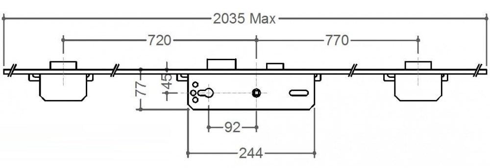 Gridlock 3 Deadbolt 45 x 92