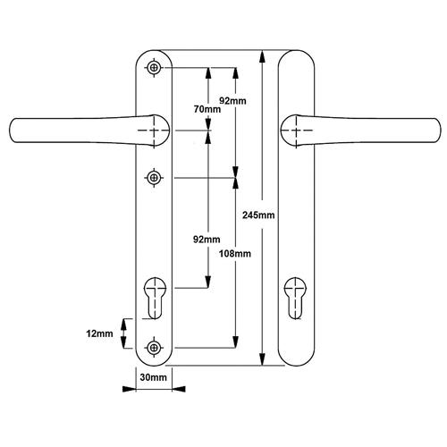 uPVC Door Handle No. 16