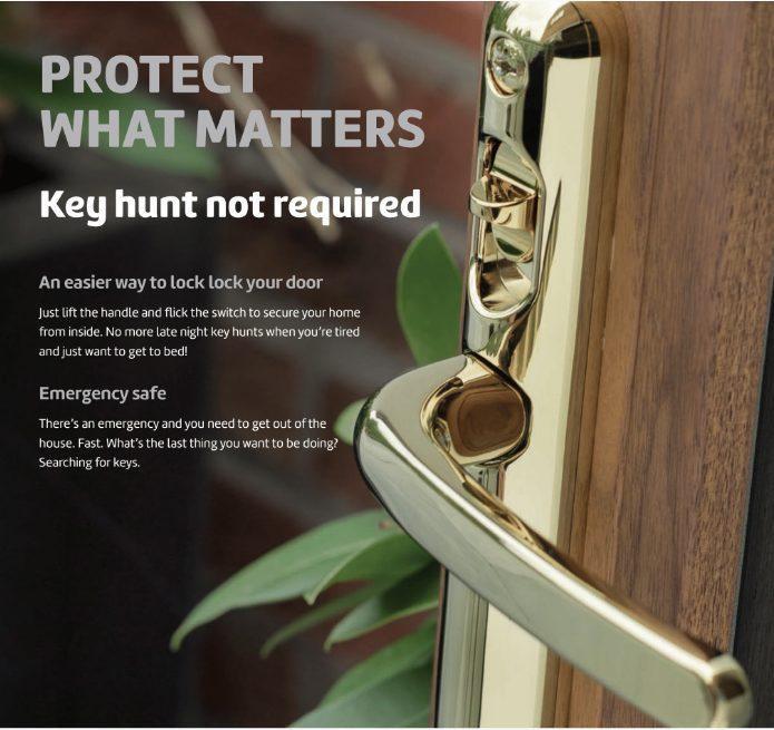Brisant Lock Lock Handle Gold 122mm Centres