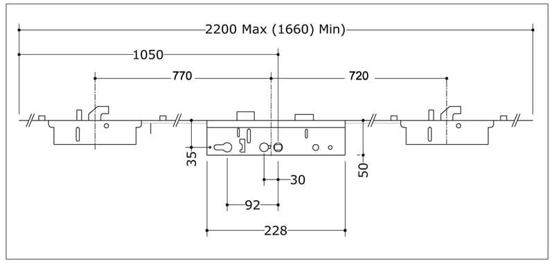 Lockmaster / Mila Master 2 Hook 4 Roller 2 Anti-Lift 35x92