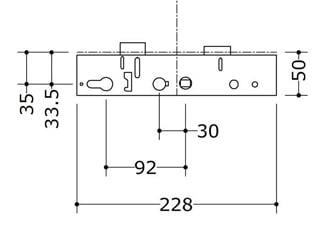 Lockmaster / Mila Master Centre Lockcase Genuine 35x92 - Single Spindle