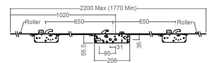 Millenco Mantis 2 - 3 Hook 2 Deadbolt 2 Roller - 35x95 (OPTION 1)