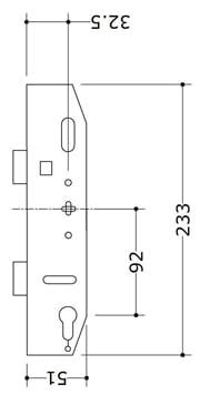 Mila Evolution Case 35x92 Single Spindle