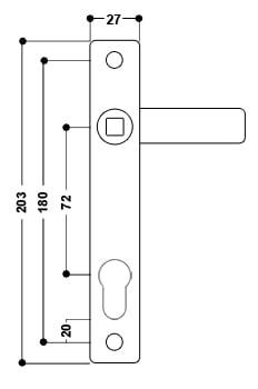 uPVC Door Handle No. 15