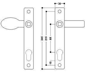 uPVC Door Handle No 9 Lever/Pad