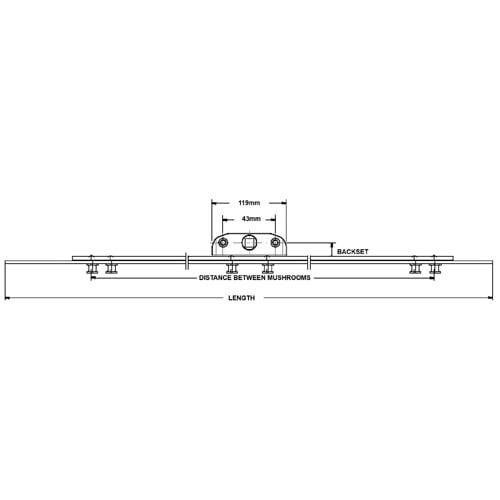 MACO Inline Espag 600x22mm