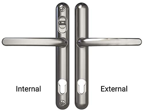 Brisant Lock Lock Handle Brushed Stainless Steel 211mm Centres