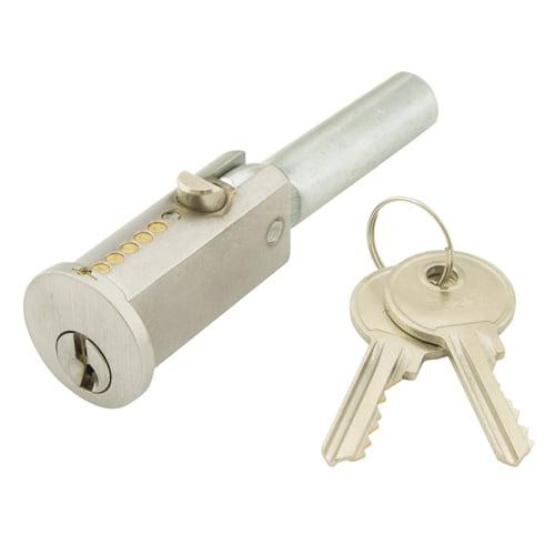 TSS Roller Shutter Round Bullet Lock Satin Chrome