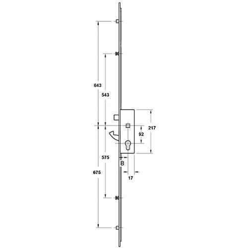 Yale Doormaster Adjustable 3 Hook 2 Roller - 35mm x 92mm