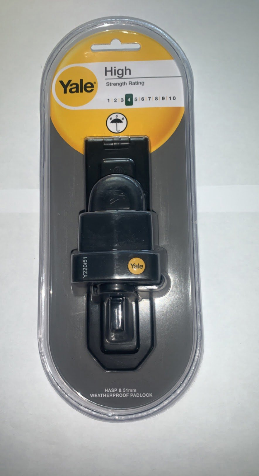 Yale Protect 55mm padlock & hasp