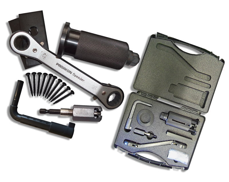 Complete Lock Puller Set with Screw Driving Adaptor and Euro Tool and Carry Case