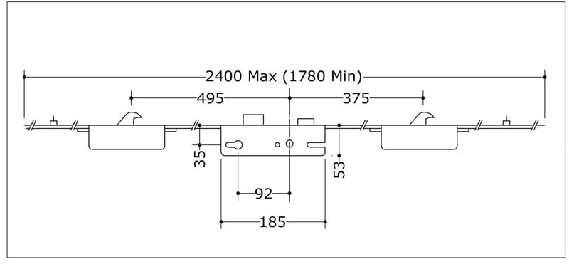 Maco 2 Hook 2 Roller 35x92