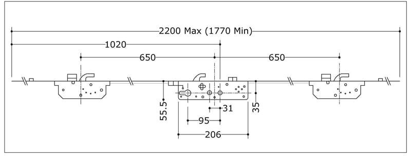 Millenco Mantis 2 - 3 Hook 2 Deadbolt 2 Roller