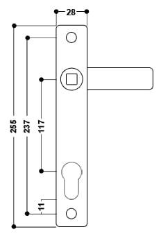 uPVC Door Handle No. 18
