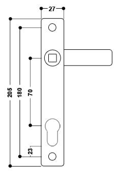 uPVC Door Handle No. 3