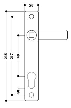 uPVC Door Handle No. 4