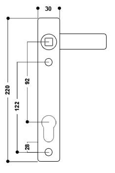 uPVC Door Handle No. 10