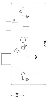 ERA Vectis Centre Case with Deadbolt