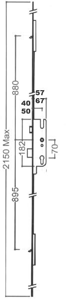 GU / G-U Tripack 2 Hook 40x70