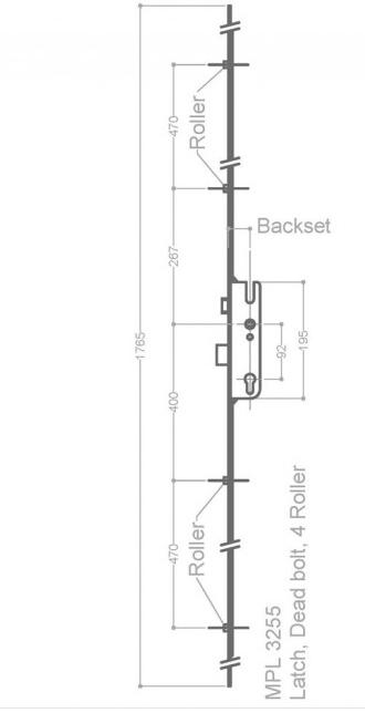 GU 4 Roller Repair Lock 35-92
